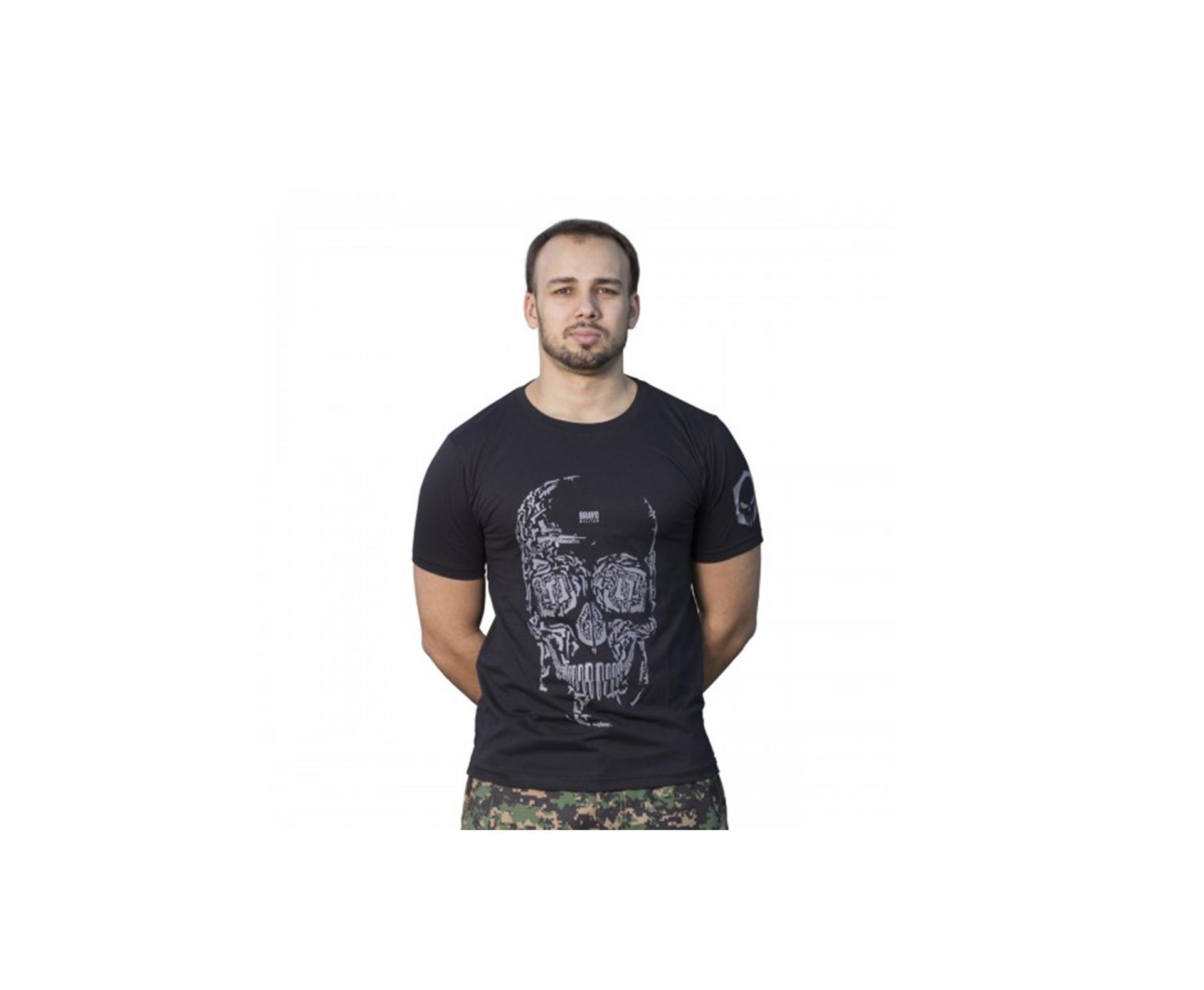 Camiseta Estampada Caveira Preta - Bravo - P