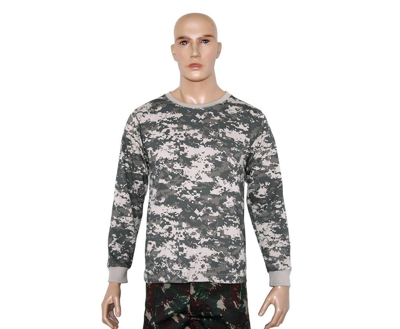 Camiseta Manga Longa Army Combat Camuflado Digital - Bravo