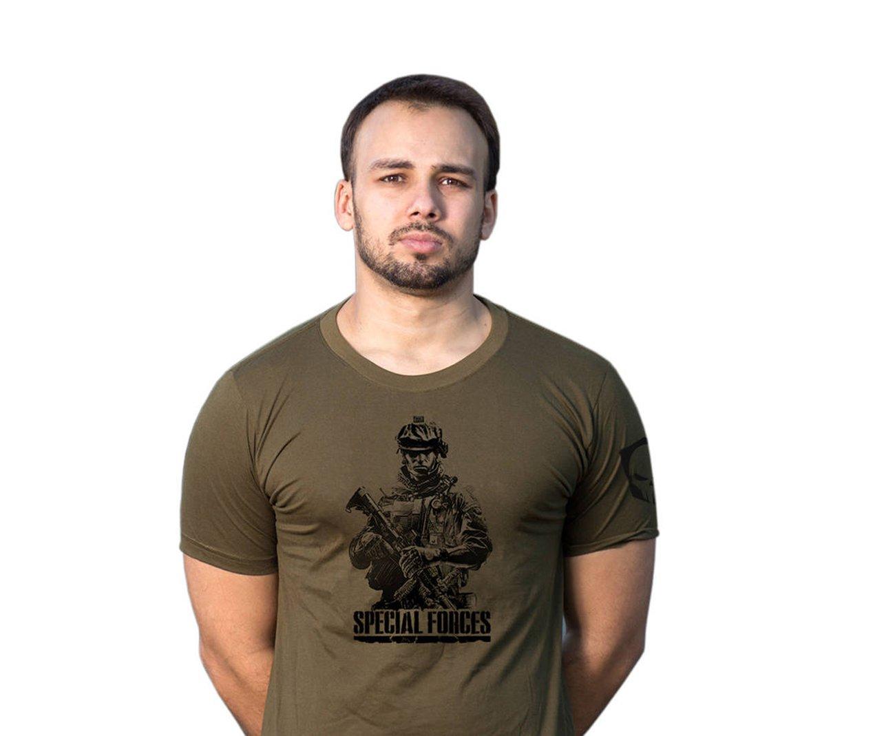 Camiseta Estampada Special Forces Verde -  Bravo