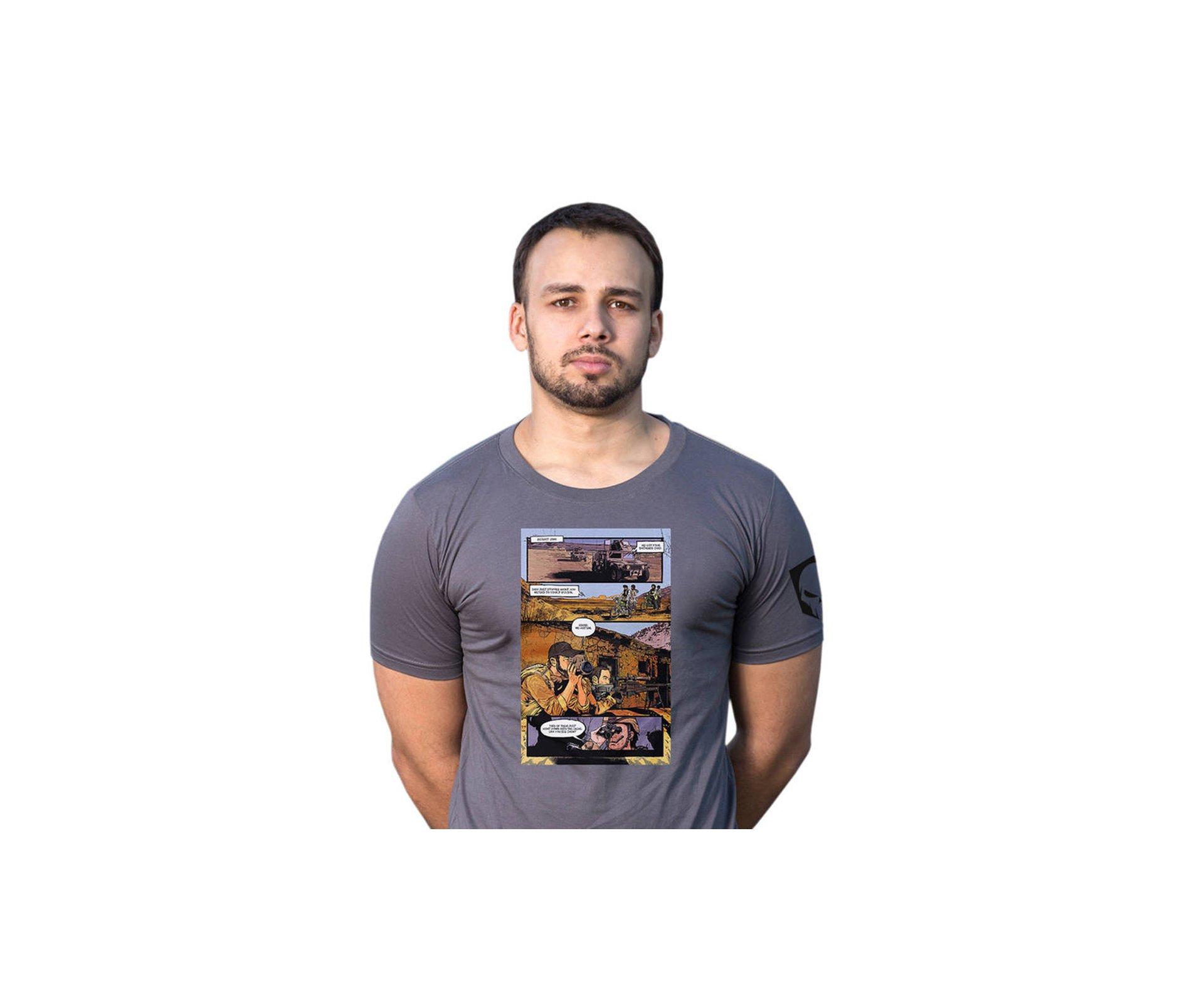 Camiseta Estampada Hq Cinza  -  Bravo - P