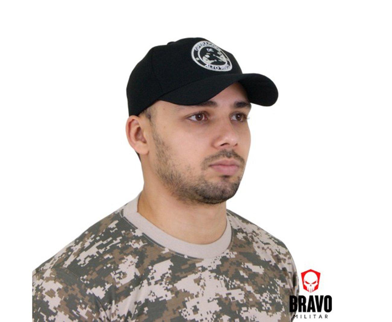 Bone Bordado Operações Alto Risco 9-preta - Bravo