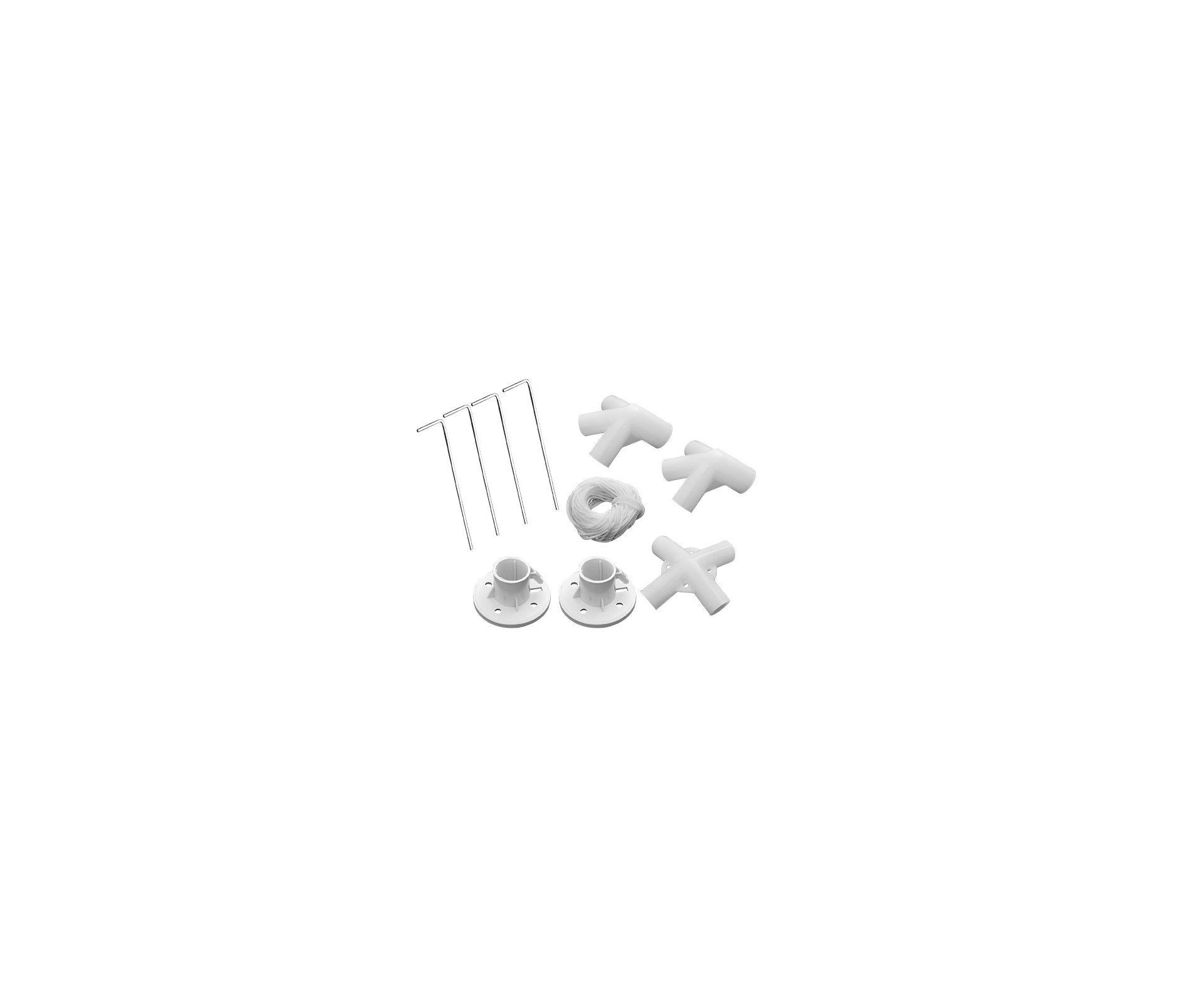 Gazebo 3x3 Oxford Poliéster Com Silvercoating Branco - Mor