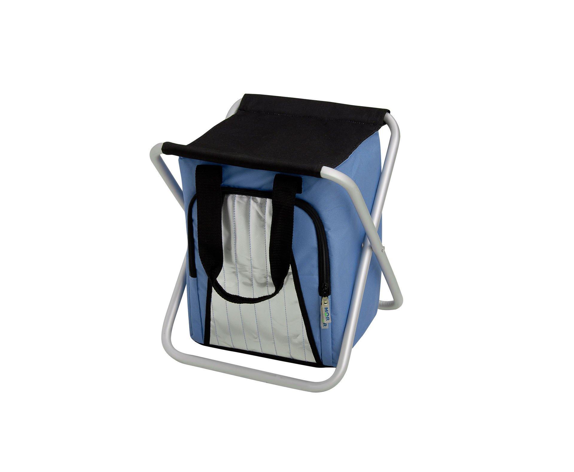 Banqueta Camping Dobravel + Cooler Termico 25l - Mor