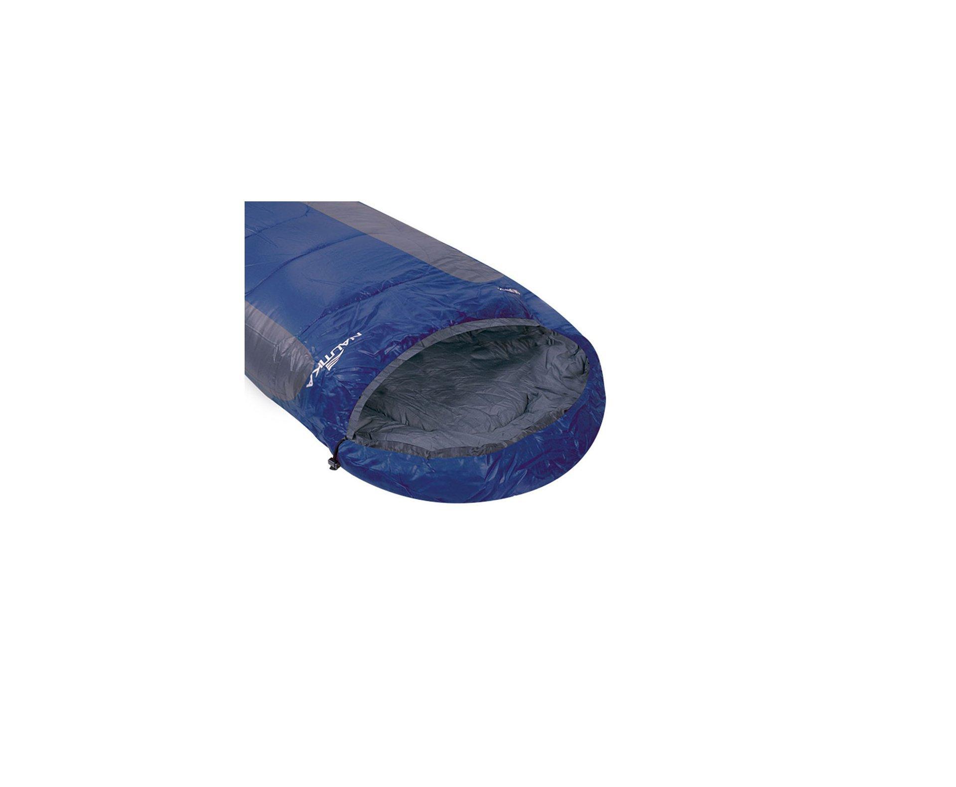 Saco De Dormir Mummy -1°c A +8°c Azul E Cinza - Nautika