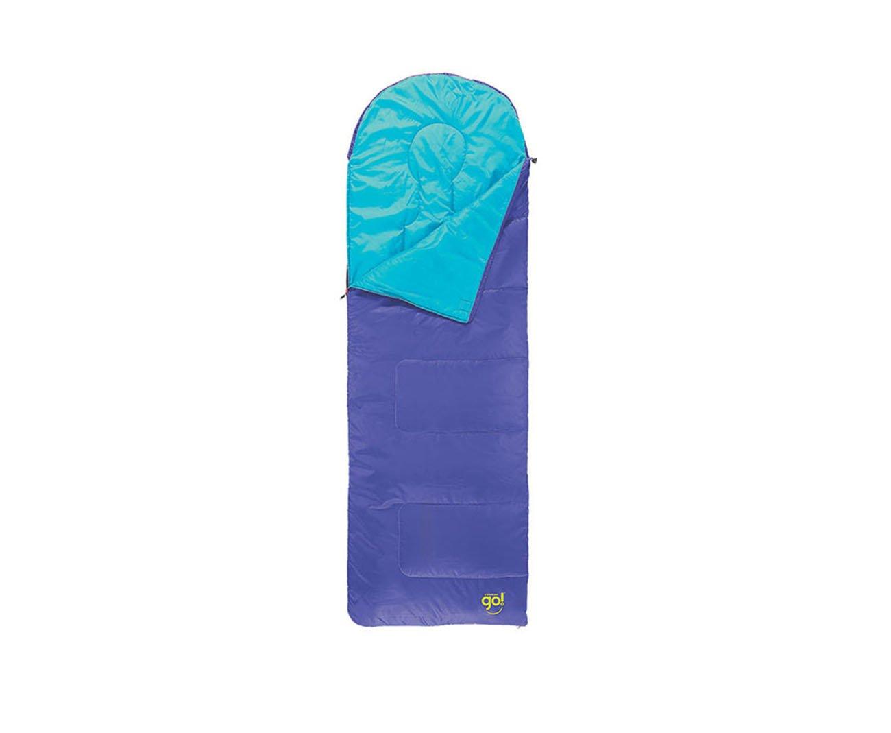 Saco De Dormir Coleman Island Azul Com Capuz