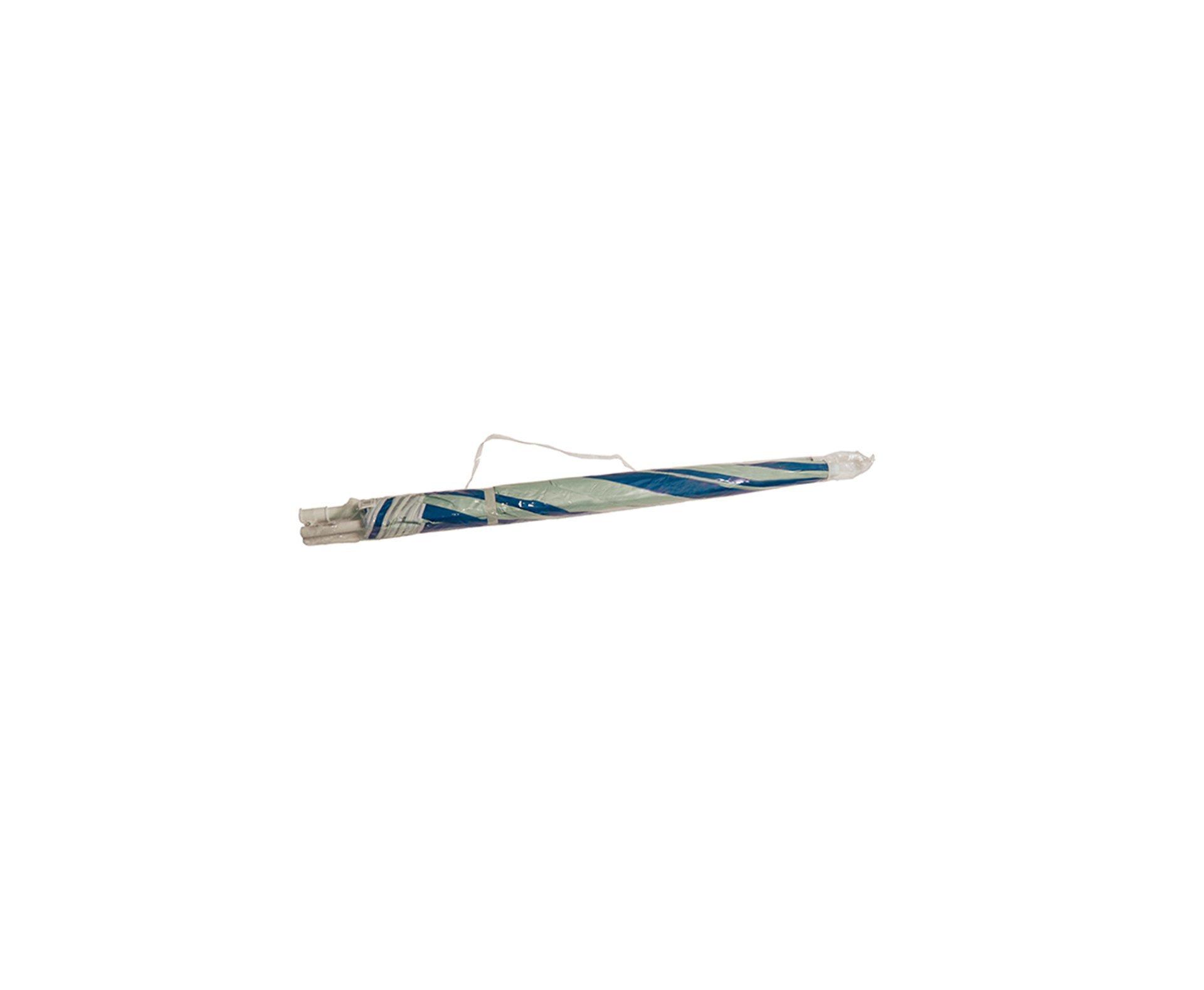 Guarda Sol 1,8m Com Silver Coating Azul Praia E Piscina Mor Fps 70