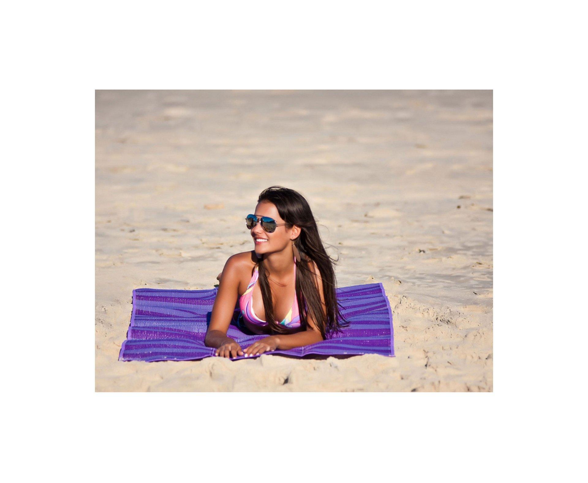 Esteira De Praia Dobrável Laranja 90x180 - Mor
