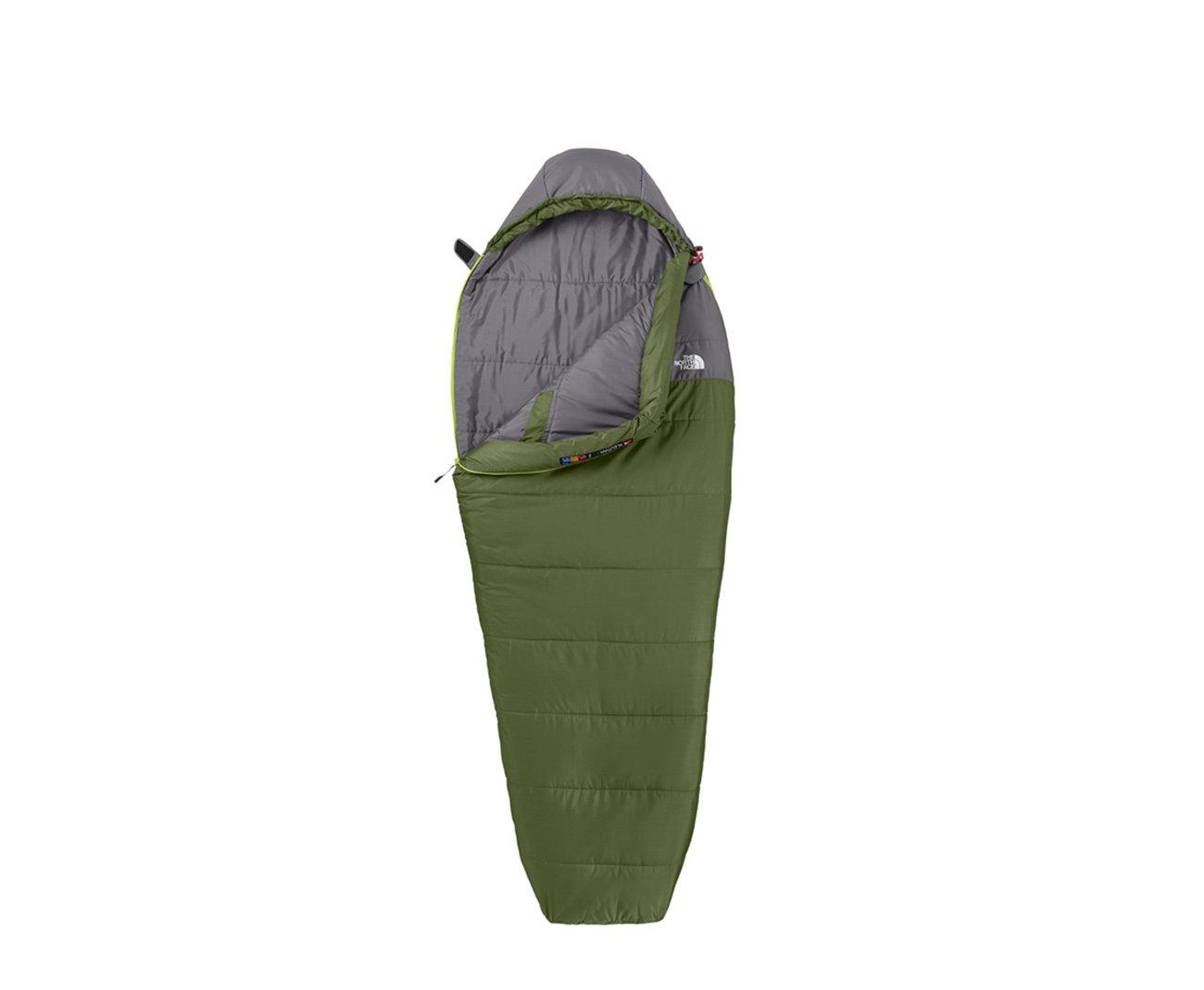 Saco De Dormir Aleutian 0°f / -18°c Verde/cinza - Ziper Lado Direito - The North Face