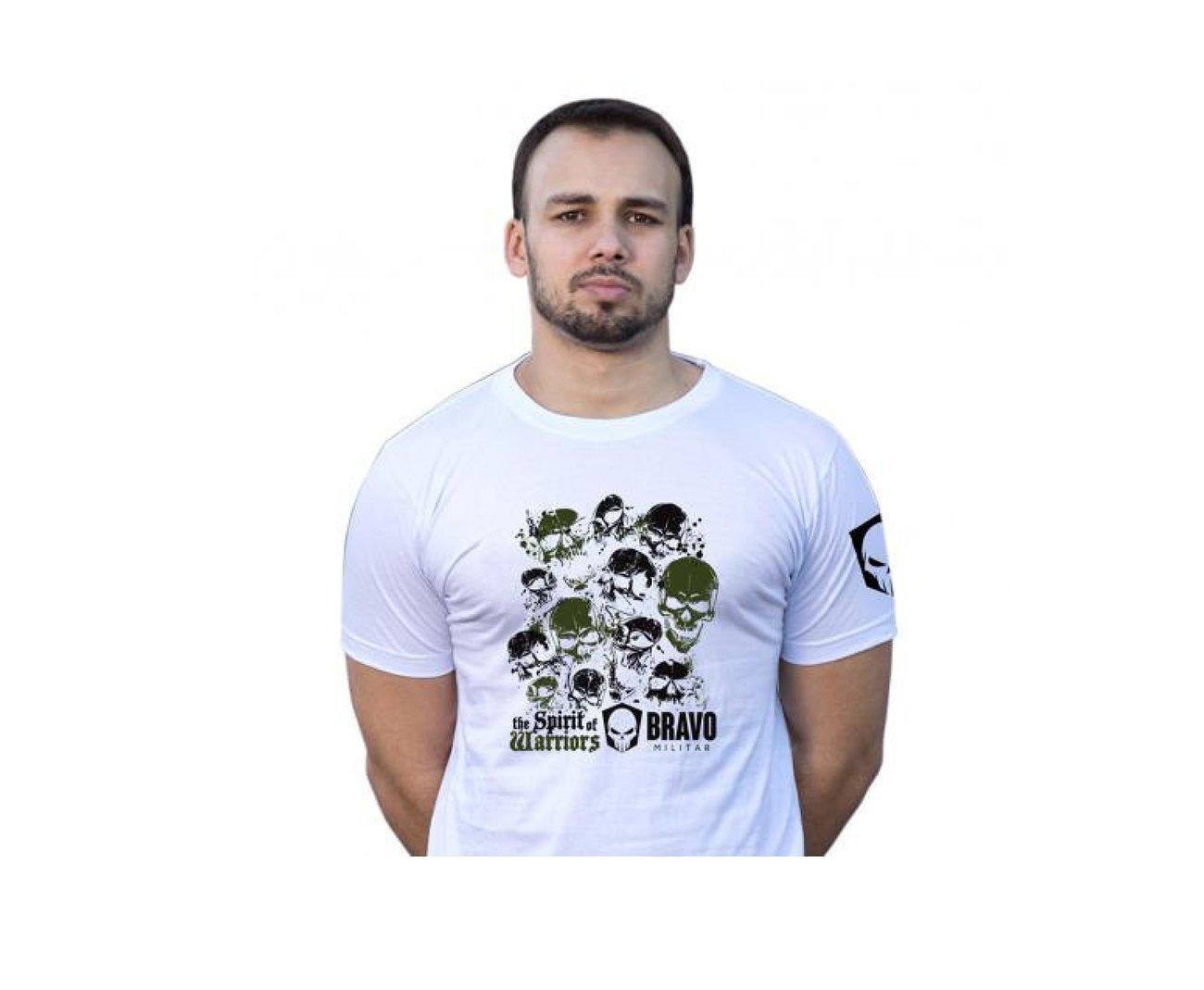 Camiseta Estampada Spirit Of Warriors - Branco - Bravo