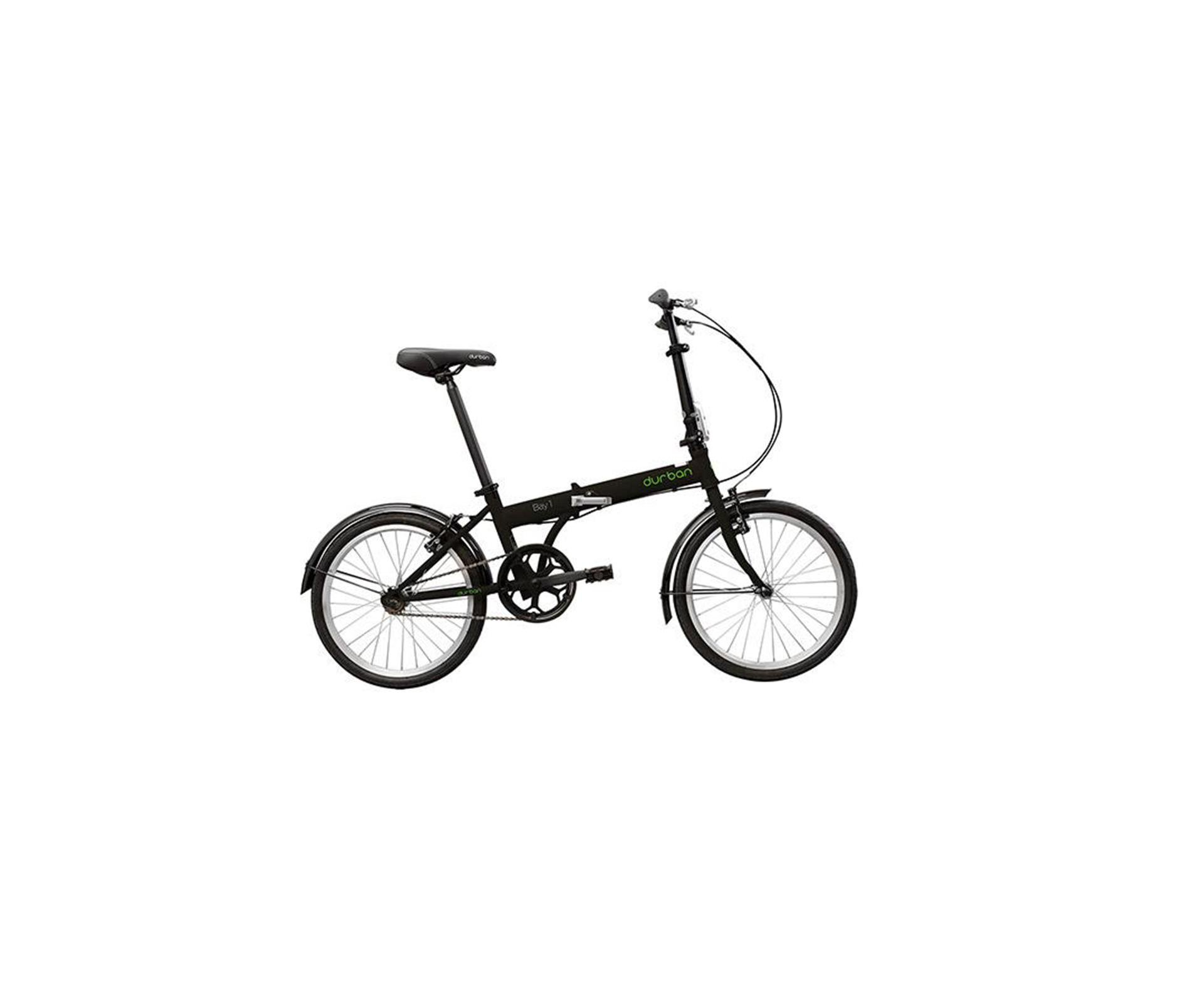 Bicicleta Durban Dobrável Bay 1 Preta - Nautika