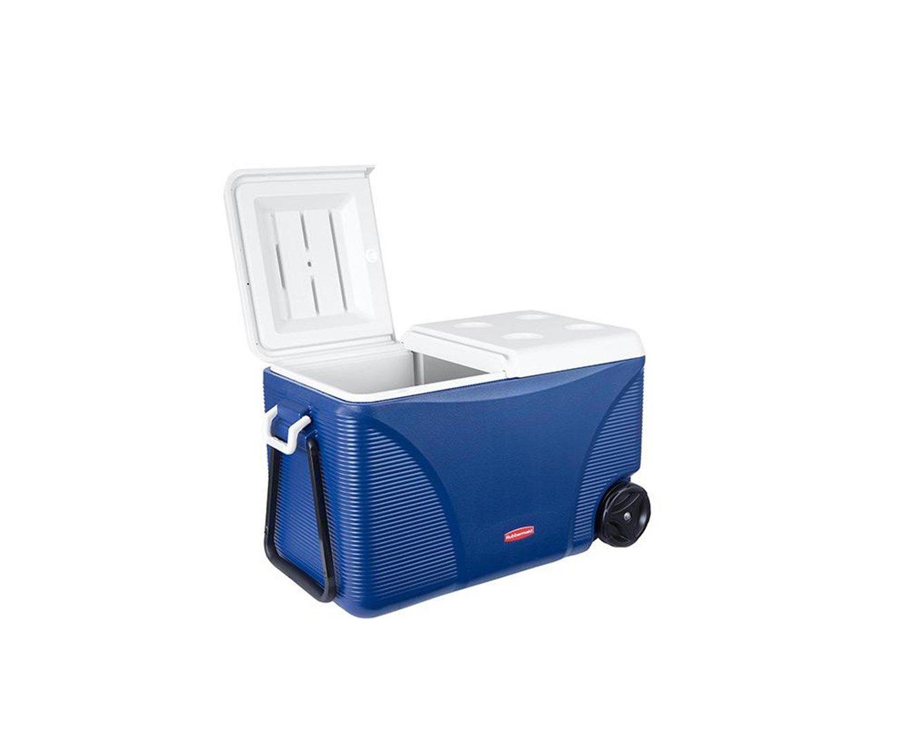 Caixa Termica - Cooler 75 Qt C/ Rodas Azul - Rubbermaid