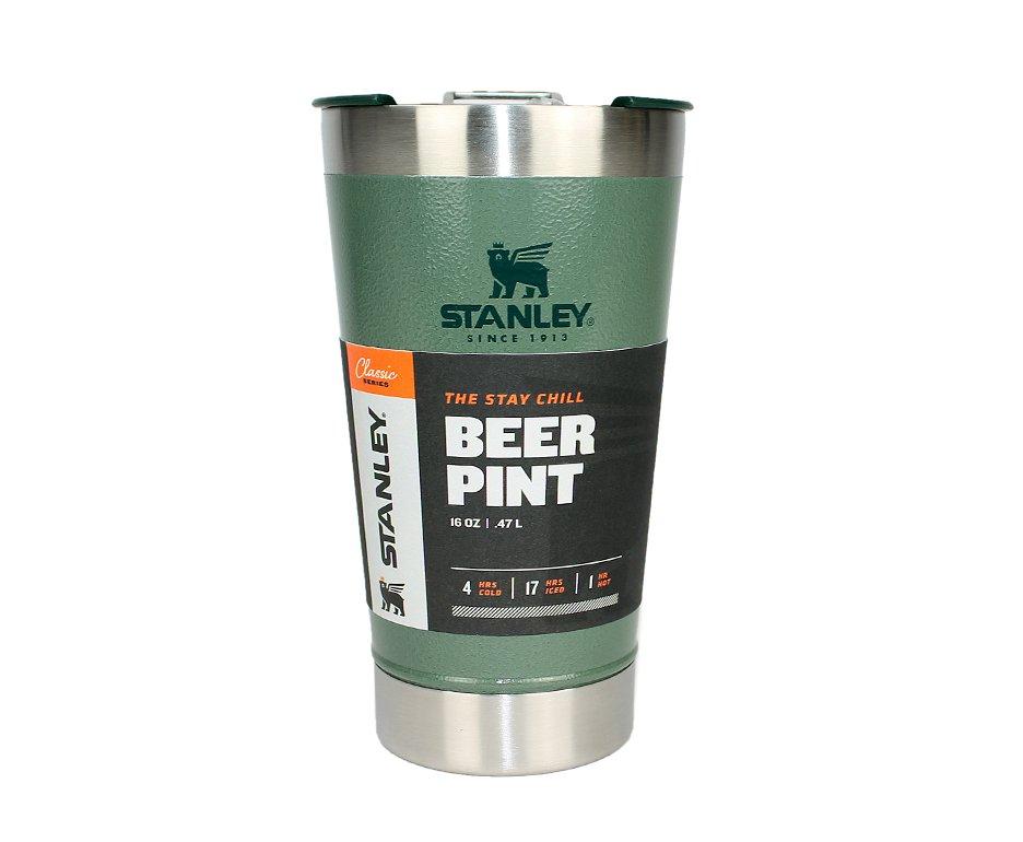 Copo Térmico Cerveja Stanley Inox Verde Com Abridor De Garrafas 473ml