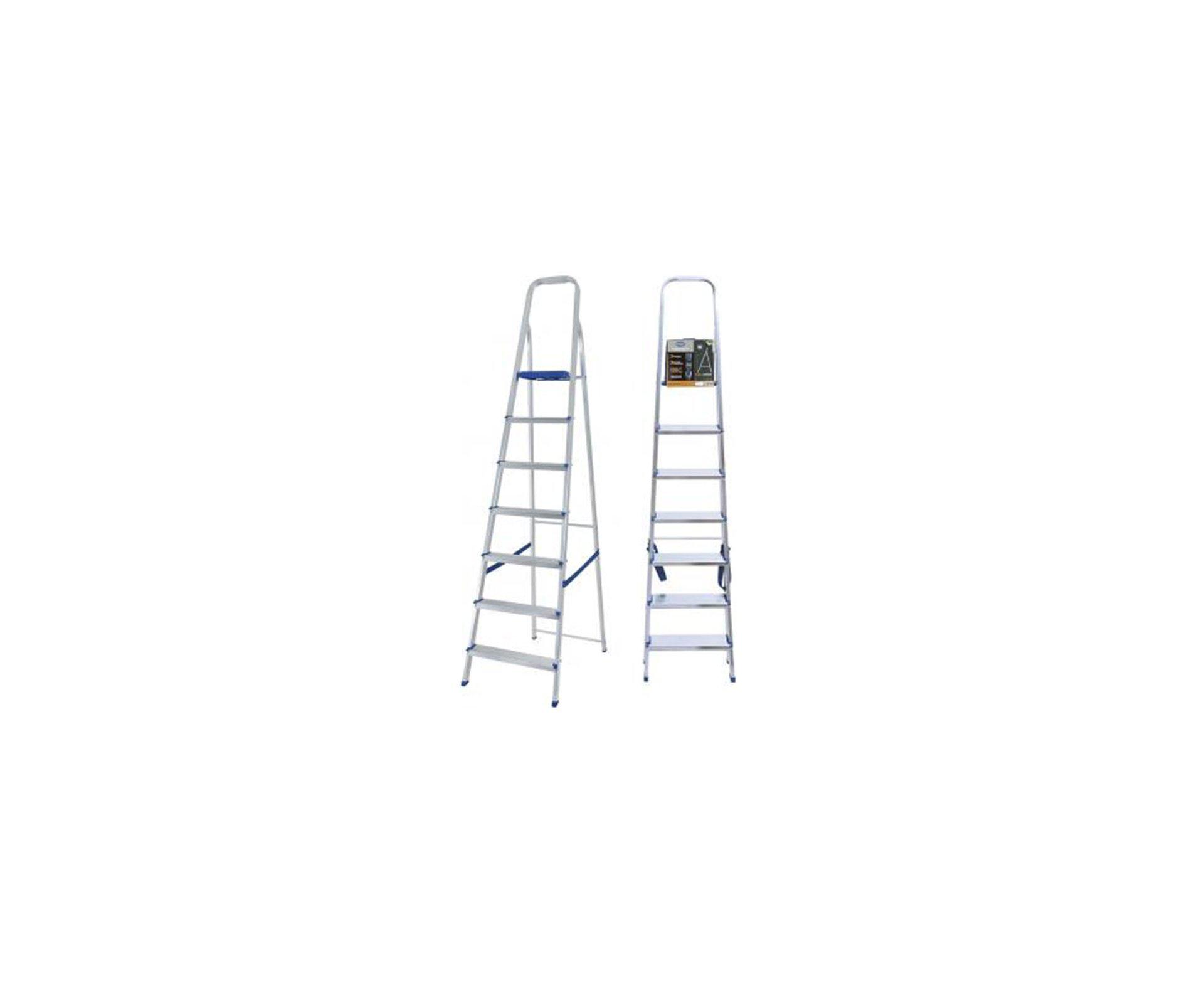 Escada Aluminio 7 Degraus - Mor