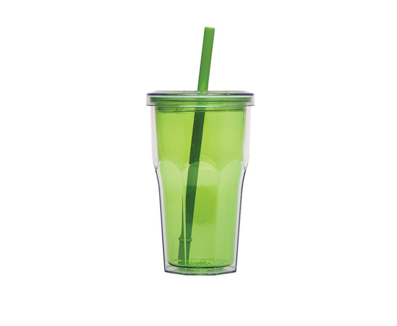 Copo Térmico Com Canudo 473ml Verde - Aladdin