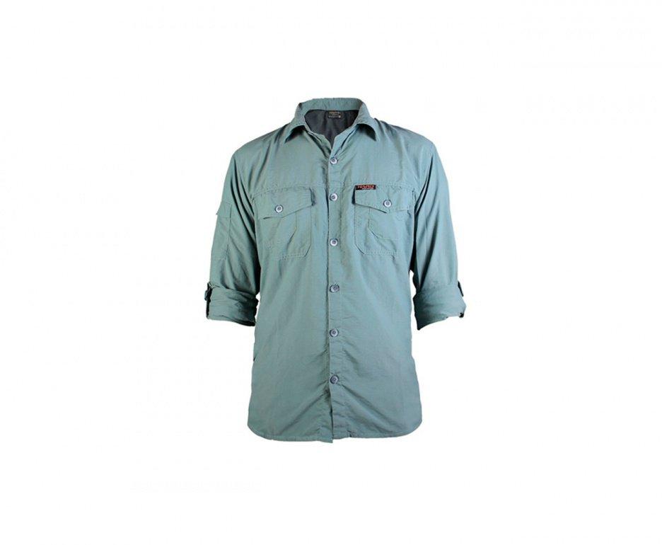 Camisa Safari Masculina Verde Claro - Hard