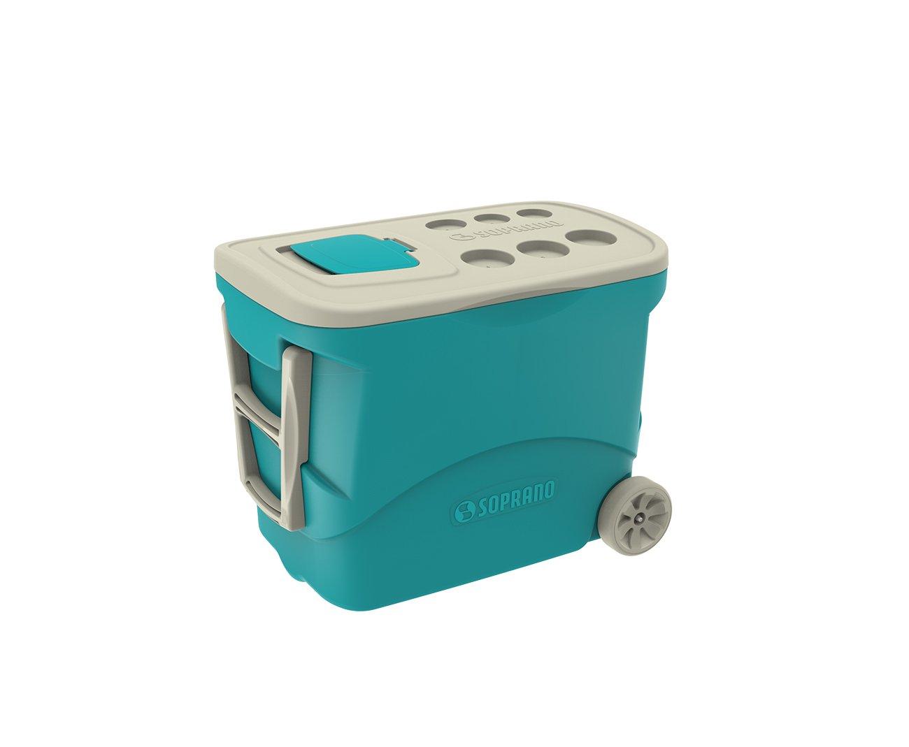 Caixa Termica Tropical C/ Rodas 50l Azul - Soprano