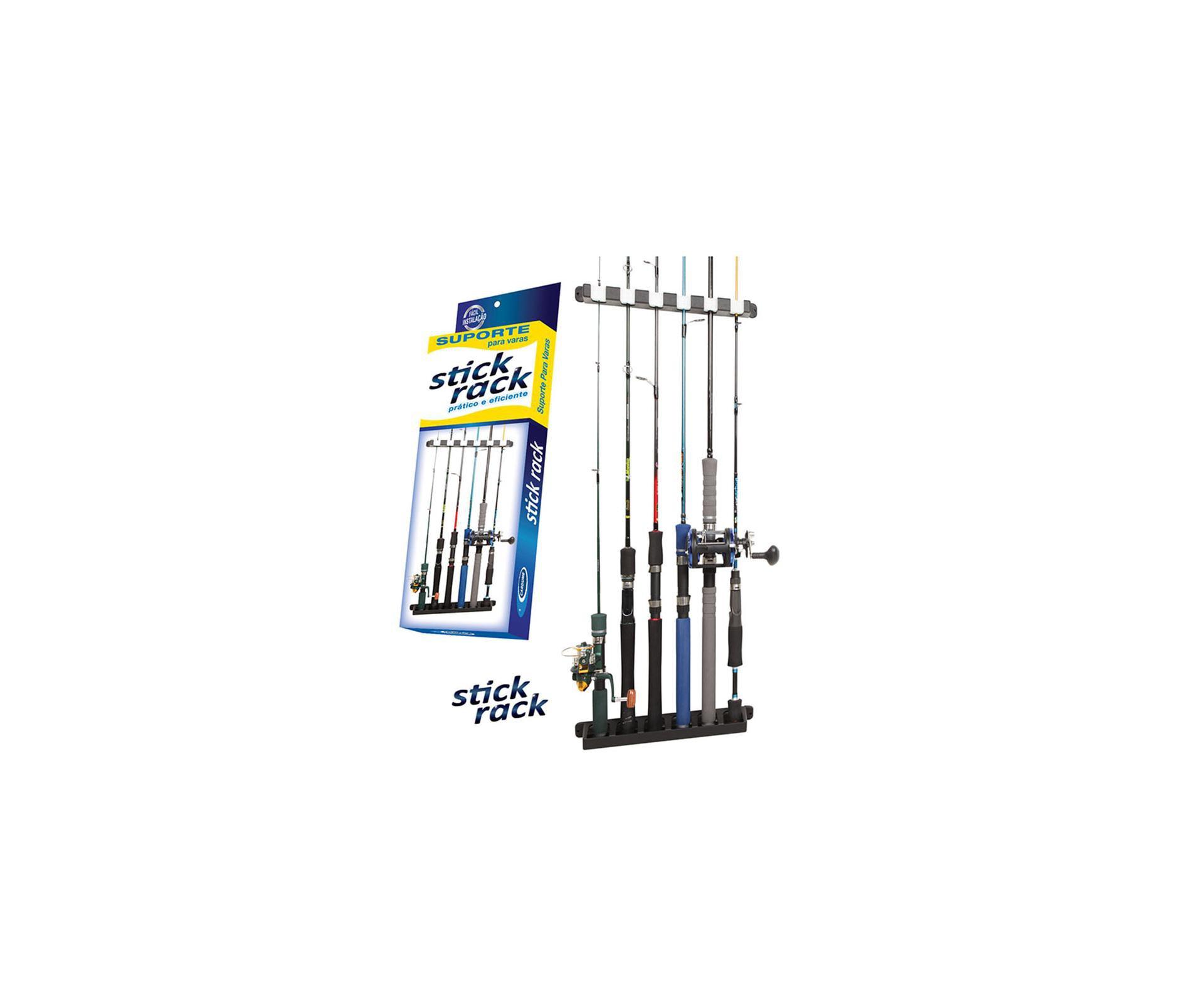 Stick-rack - Suporte De Parede Para 6 Varas Pesca - Cardume