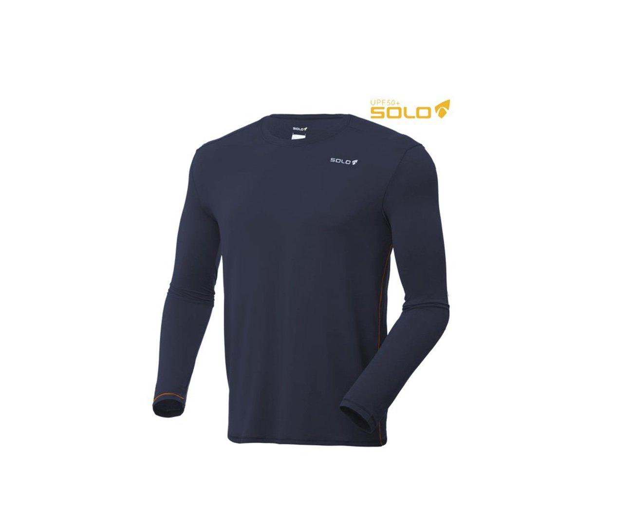 Camiseta Ion Uv Ml Azul Escuro - Proteção Uva/uvb 50+ Fps -  Solo