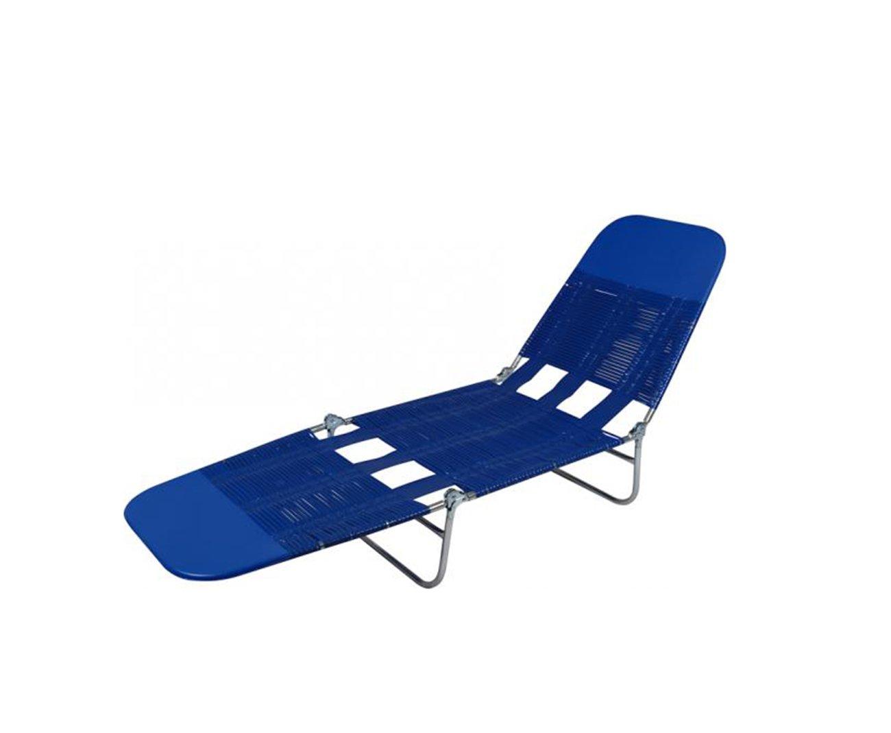 Espreguiçadeira Dobravel - Pvc Azul - Mor