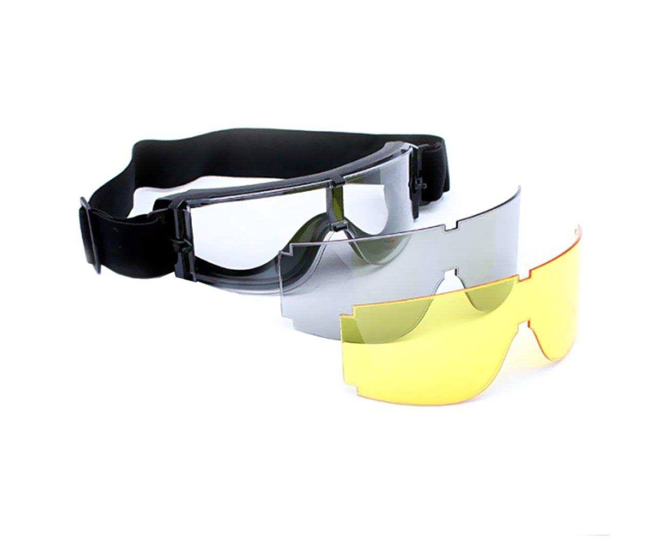 Mascara De Proteção Airsoft X800 Tripla Lente - Actionx