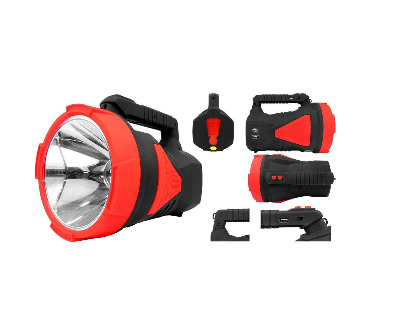 Holofote/lanterna Recarregável 7055 1 Led 10w Alcance 600 Metros - Albatroz