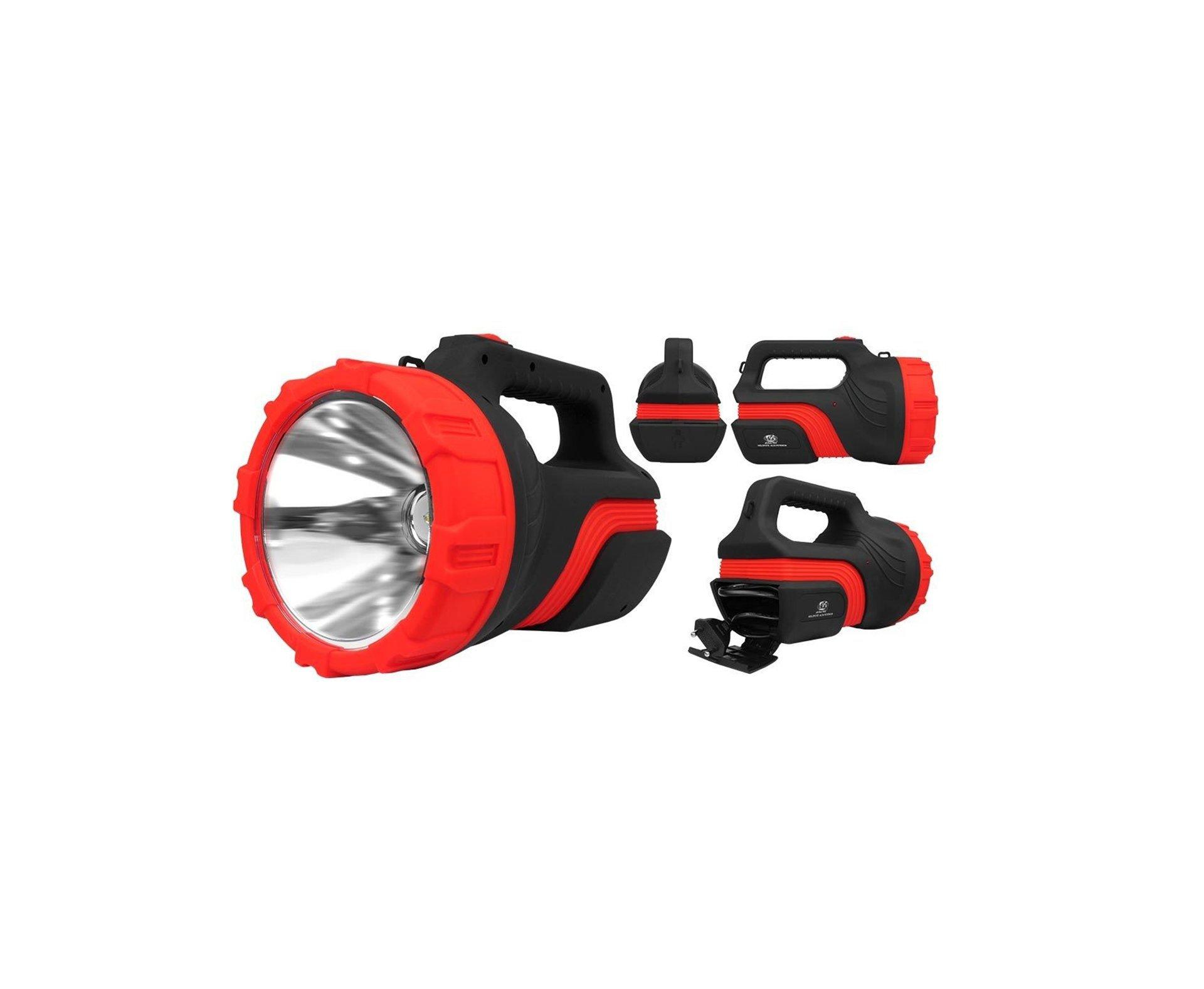 Holofote/lanterna Recarregavel 7078  1led  8w Alcance Ate 1000 Metros - Albatroz