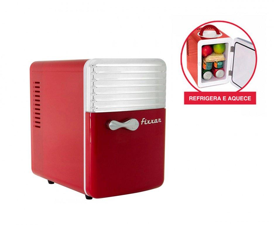 Mini Refrigerador E Aquecedor 5l Vermelha - Fixxar