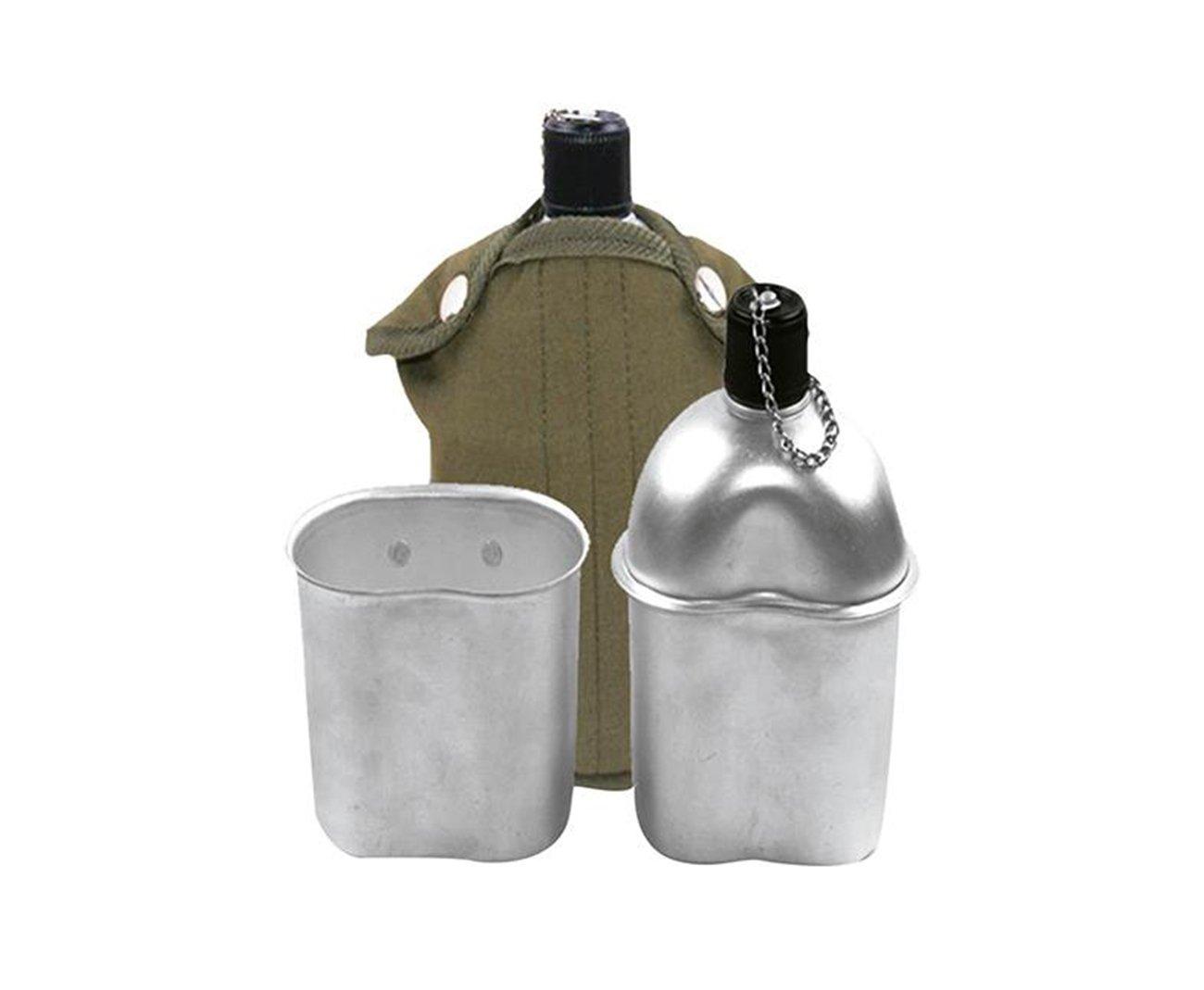 Cantil De Aluminio + Capa Verde + Copo Aluminio - Echolife