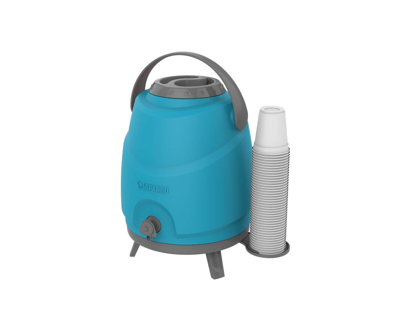 Botijao Termico Aspen 9 Litros Azul - Soprano