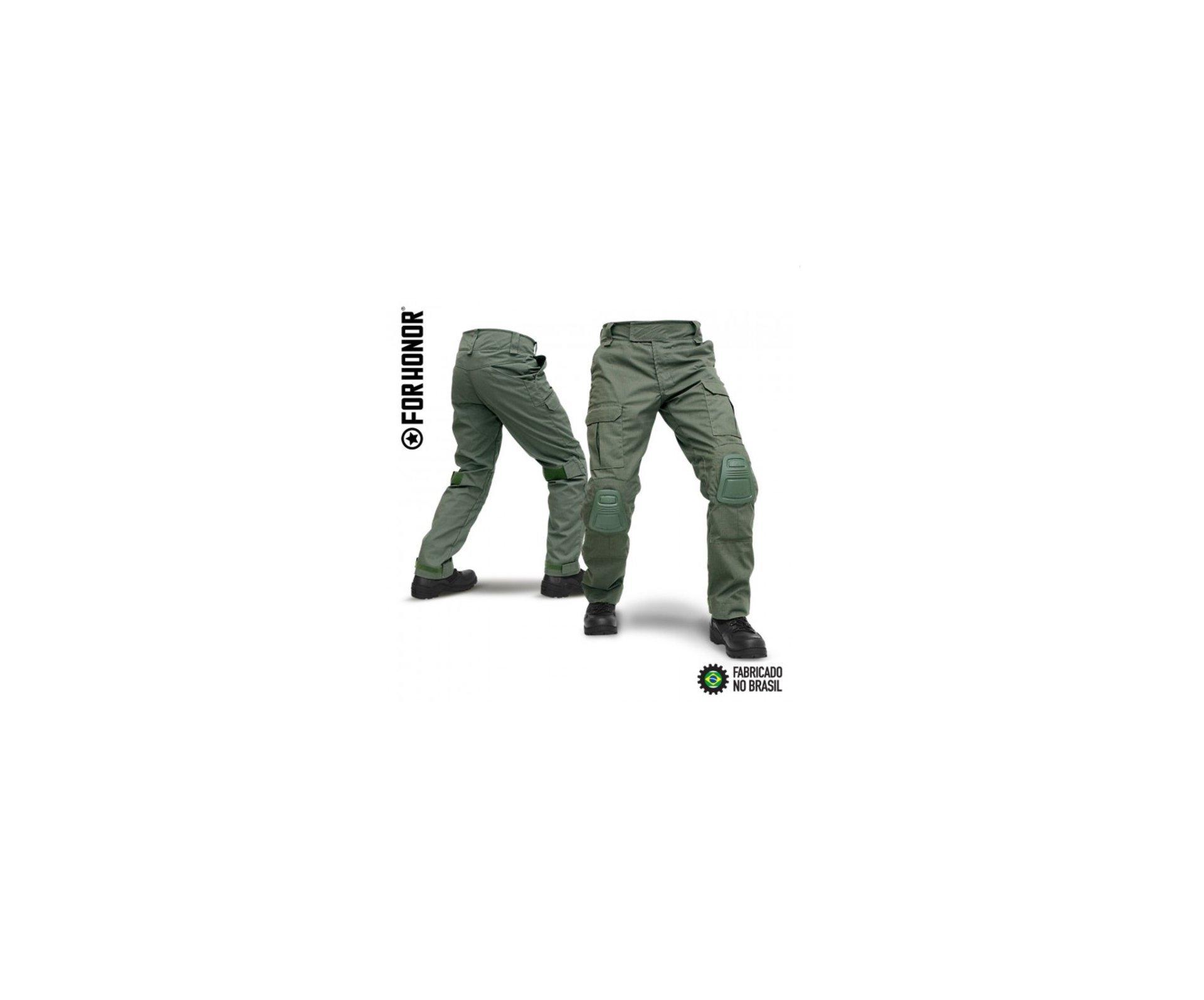 Calça Tatica Com Joelheira F3 Verde Oliva - Forhonor - P
