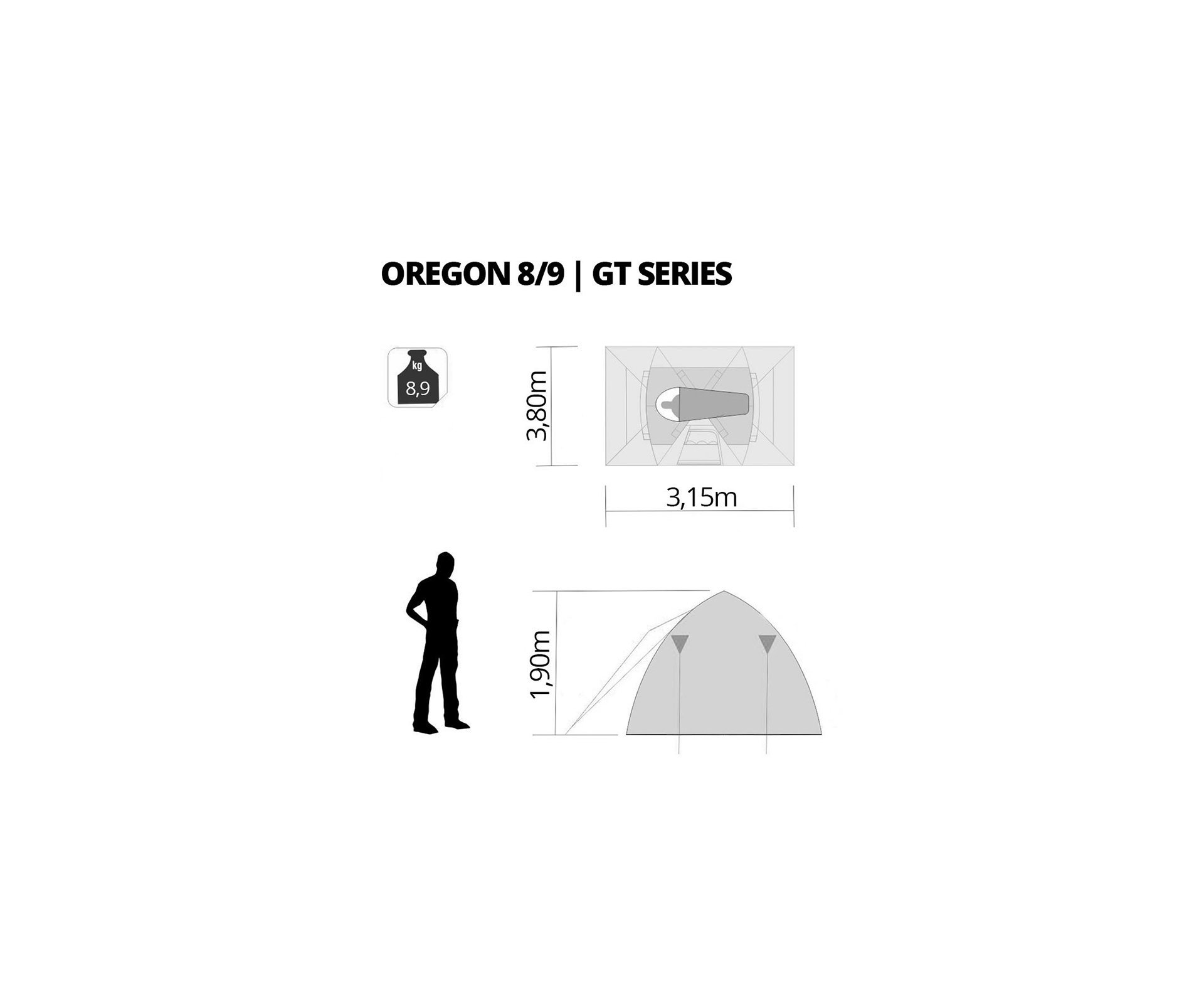 Barraca Nautika Oregon Gt 8/9 Pessoas