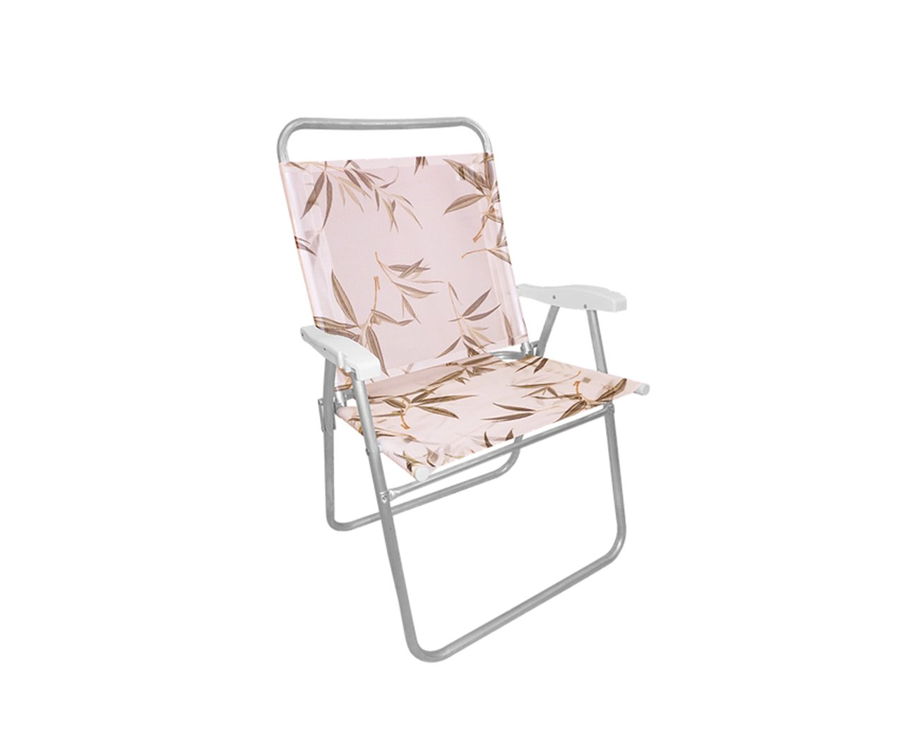 Cadeira De Praia Em Aluminio Zaka King Estampa Bambu Capacidade 140kg