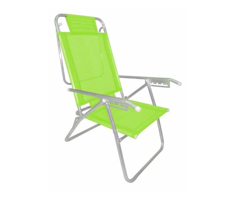 Cadeira Reclinavel Zaka Em Aluminio 5 Posições Infinita Up Verde Citrica