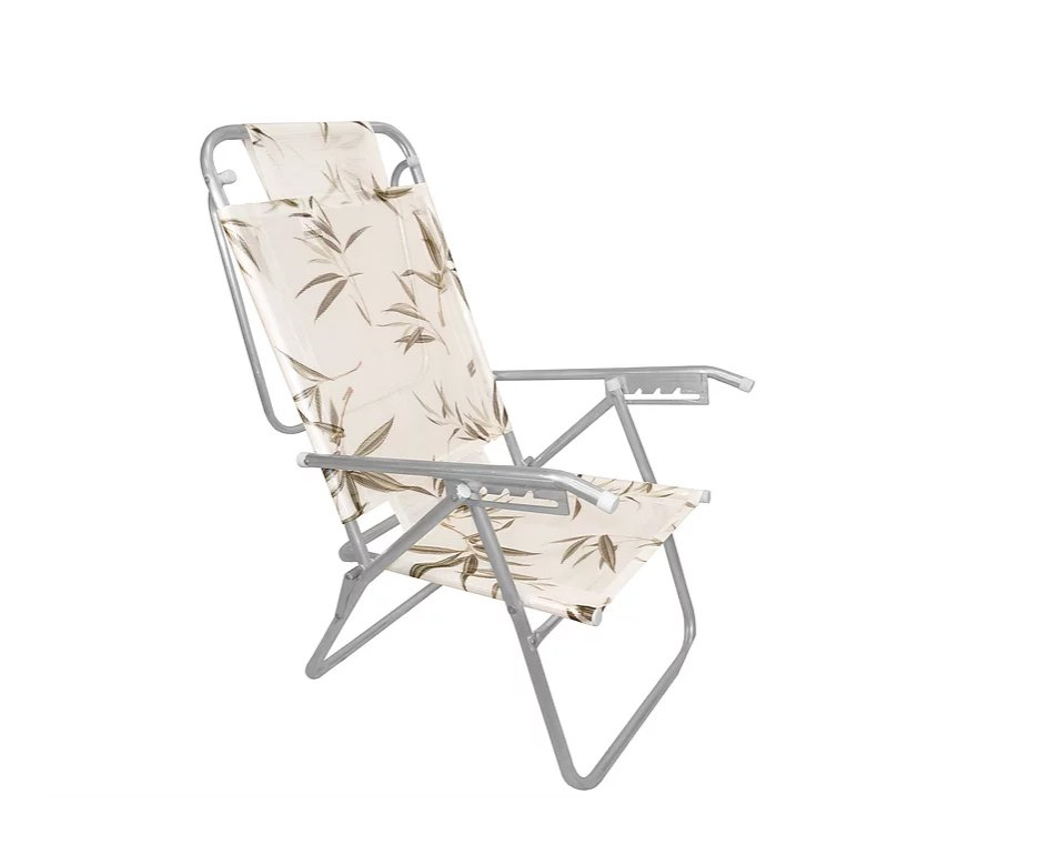 Cadeira Reclinavel Zaka Em Aluminio 5 Posições Infinita Colors Bambu