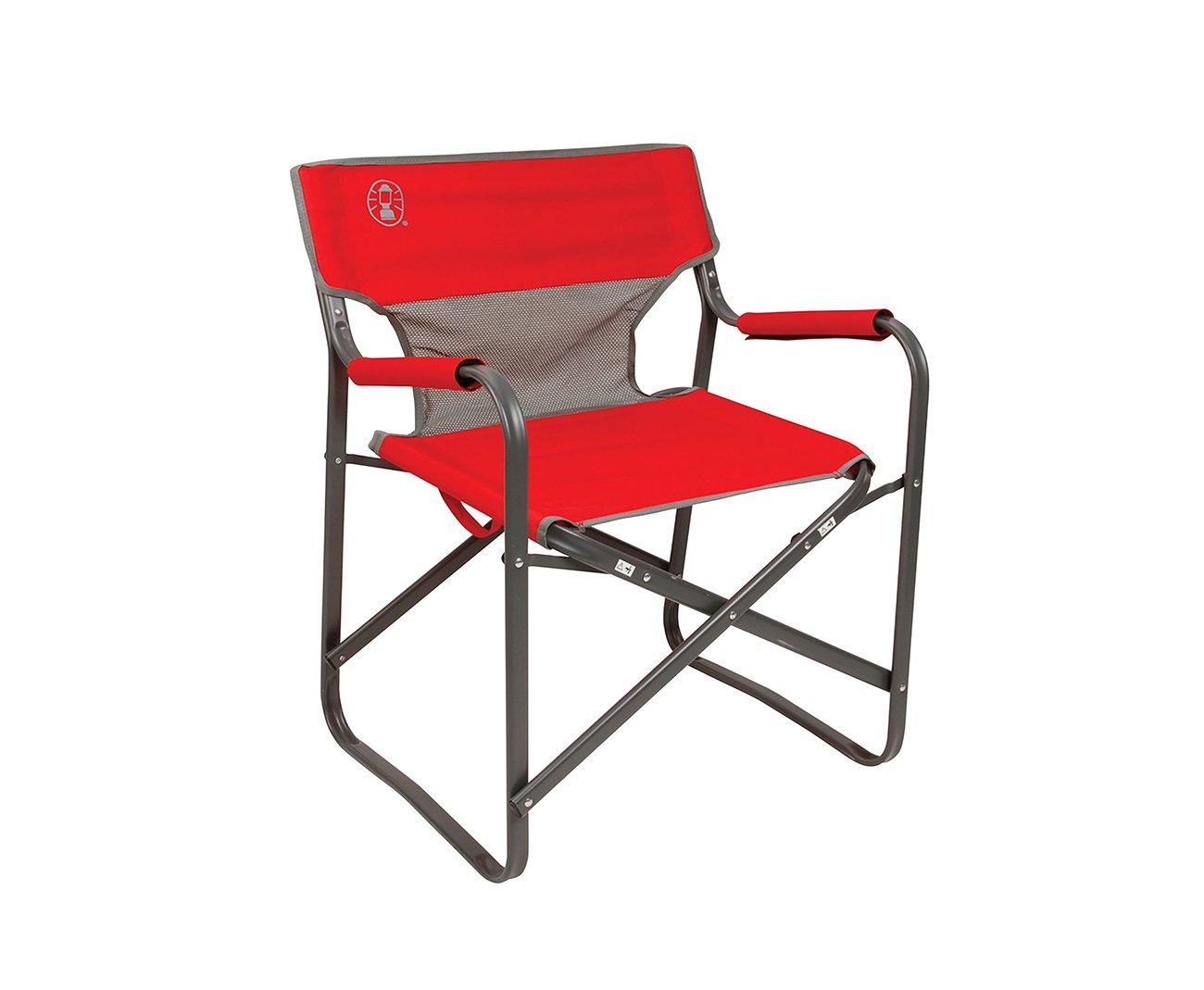 Cadeira Dobrável Coleman Steel Deck Vermelha