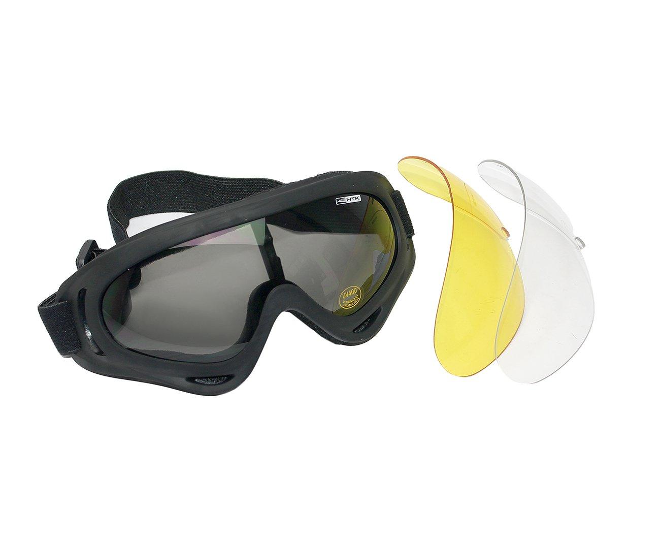óculos Tatico Ntk Luni Preto Antiembaçante Com 3 Lentes