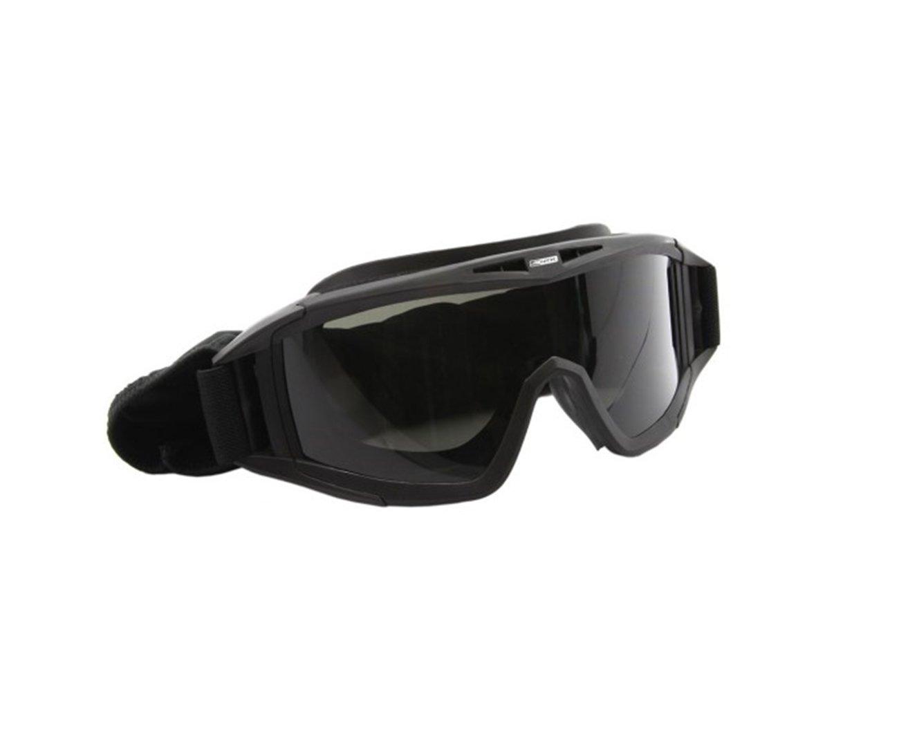 Oculos / Mascara Para Airsoft Preto Com 3 Lentes - Nautika