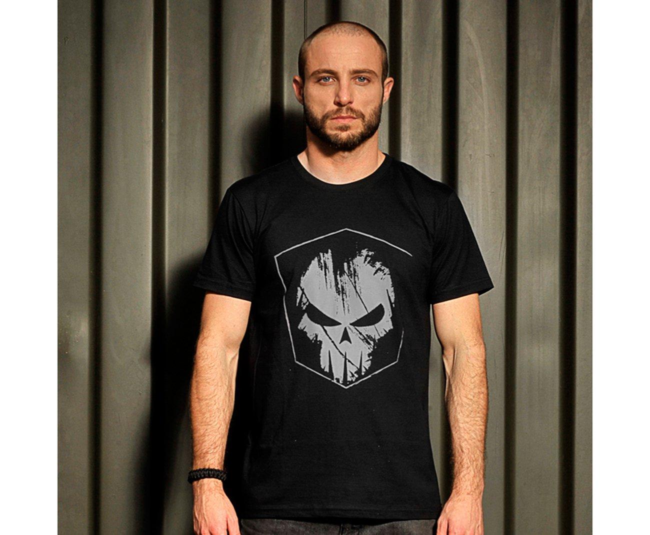 Camiseta Bravo Estampada Spectral Estampa Cinza
