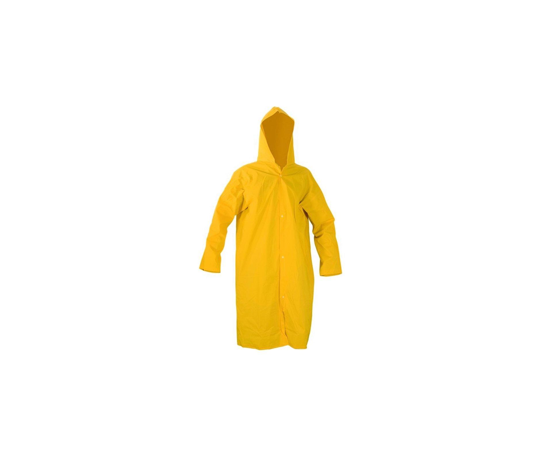 Capa De Chuva Pvc Plasticor Amarela