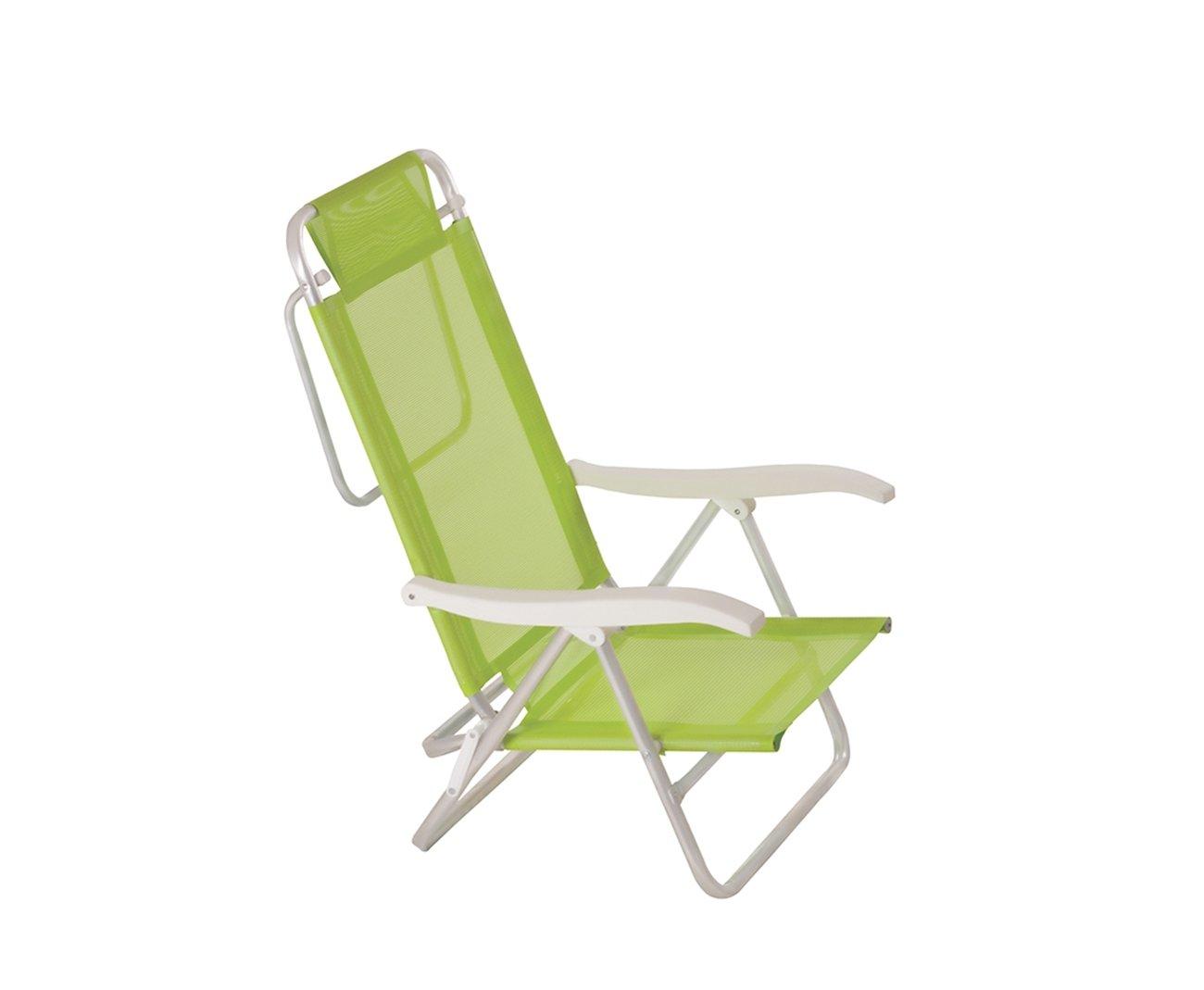 Cadeira Reclinavel De Praia Aluminio Mor Fashion - Verde