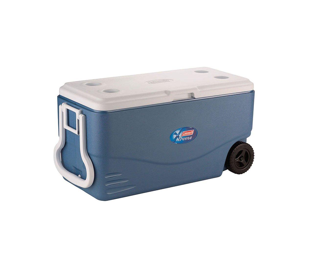 Caixa Térmica Com Rodas Extreme 100 Qt (95 Lts) Azul - Coleman