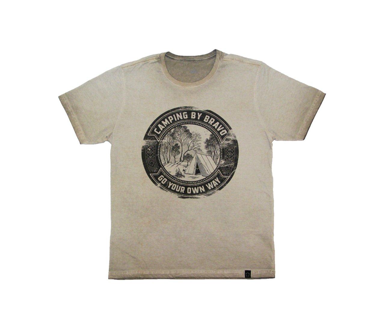 Camiseta Desbrave Bravo Estampada Coyote