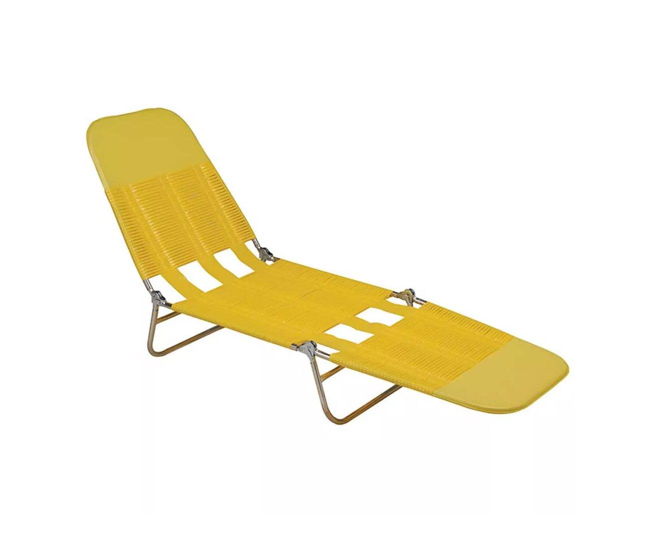 Cadeira Espreguiçadeira Pvc Amarelo - Mor