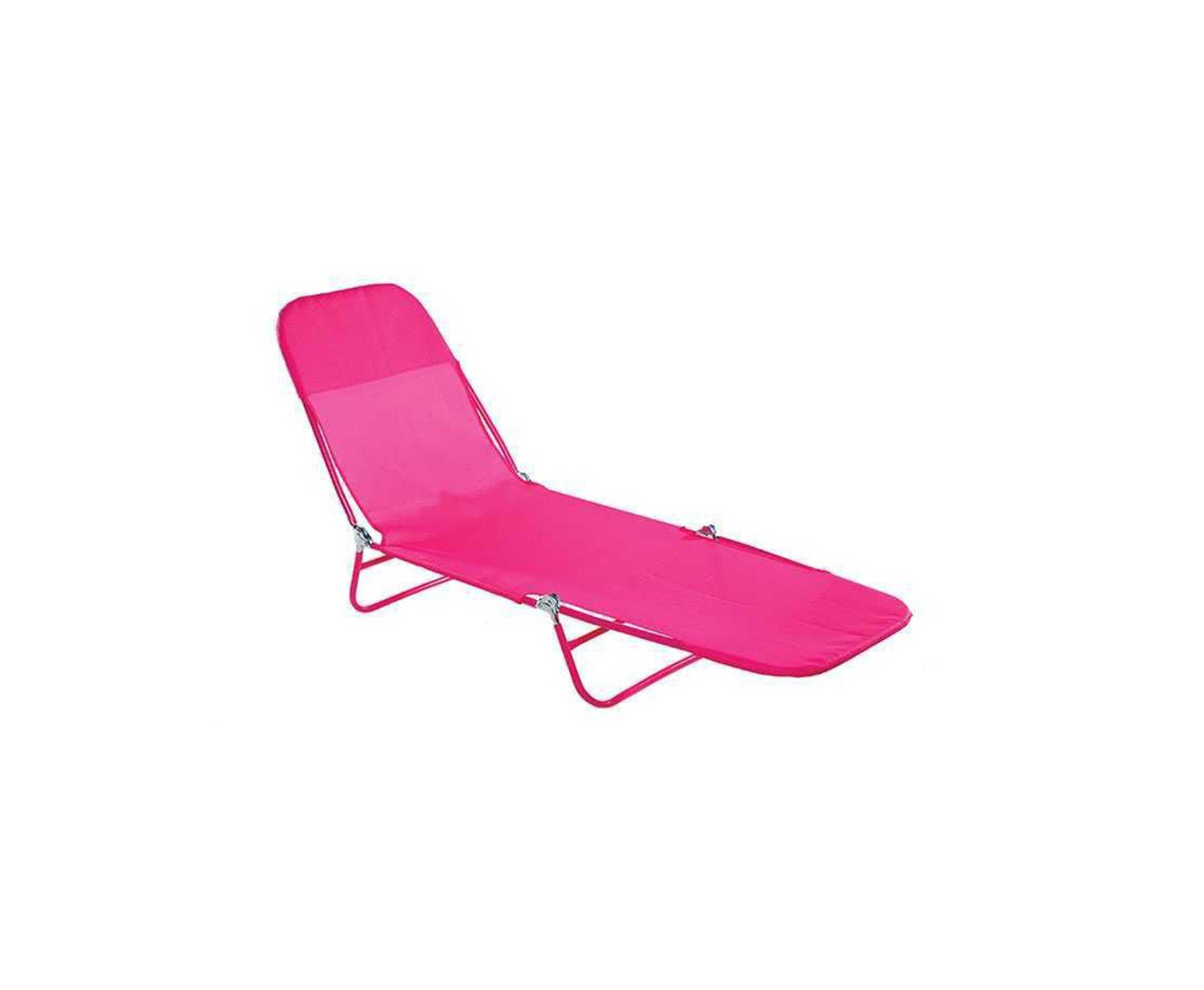 Cadeira Espreguiçadeira Textilene Fashion Rosa - Mor